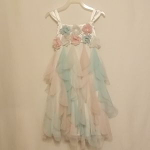 BISCOTTI PASTEL BUTTERFLY DRESS - ADORABLE!!